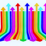 Rainbow arrows background Royalty Free Stock Photos
