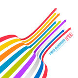 Rainbow Arrows Background. Vector illustration for your business presentations. Vector eps10 Royalty Free Stock Image