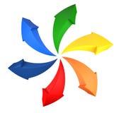 Rainbow arrows Royalty Free Stock Photo