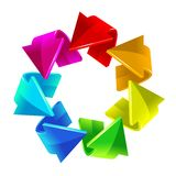 Rainbow arrows. Vector illustration  for your design Royalty Free Stock Image