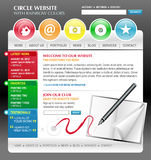 Rainbow Art Internet Website Template. A rainbow colorful technology website template with an art concept. There are circle web buttons and navigation with a Royalty Free Stock Photography