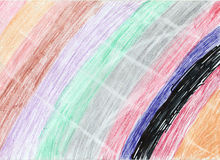 Rainbow artwork on paper background Royalty Free Stock Image