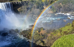 Rainbow At The Waterfall Stock Photography