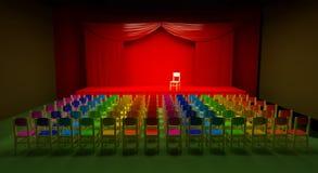Rainbow auditorium Royalty Free Stock Photos