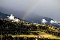 Rainbow in Austria royalty free stock photography