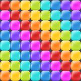 Rainbow backdrop with realistic glossy squares. Fun abstract backdrop for decor and selebration. royalty free illustration