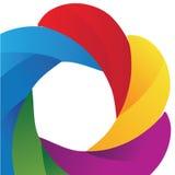 Rainbow background. With modern detale Stock Photos