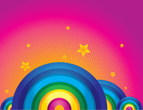 Rainbow background. Rainbow fantasy  colorful background Stock Image