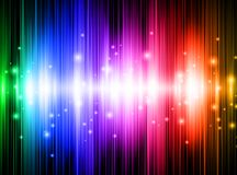 Rainbow background. Rainbow multicolored abstract bright background with lights Royalty Free Stock Photography
