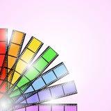 Rainbow background. Photo film rainbow in sunlight Stock Photos