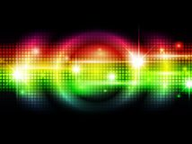 Rainbow background. Rainbow multicolored abstract bright background with stars Royalty Free Stock Image