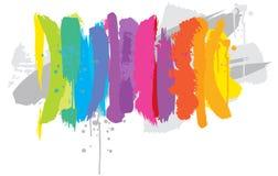 Rainbow background. Vector illustration of rainbow colored brushes Royalty Free Stock Photo