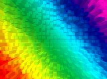 Rainbow background. A colourful background with cubes in the rainbow stock illustration