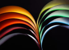 Rainbow background. Abstract rainbow background with colored paper royalty free stock photo