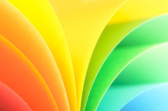 Rainbow background. Abstract rainbow background with colored paper.Light tones stock photos