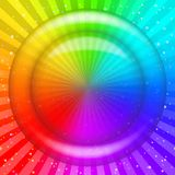 Rainbow background. With transparent circle, confetti and rays. Abstract web design. Vector eps10, contains transparencies Royalty Free Stock Photos
