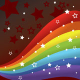 Rainbow background. Background with rainbow stripes and stars Royalty Free Stock Photography