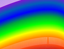Rainbow Background. Background of curving rainbow colours Stock Photo
