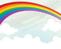 Rainbow Background. A rainbow abstract background with clouds Royalty Free Stock Image