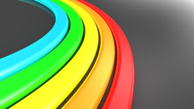 Rainbow background. Abstract 3d illustration of rainbow background Royalty Free Stock Images