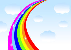 Rainbow on a background blue sky Royalty Free Stock Photography
