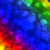 Rainbow background bokeh vector illustration