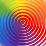 Rainbow background with circles Royalty Free Stock Images