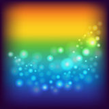 Rainbow background with circles Stock Photography