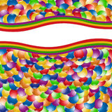 Rainbow background color ball Stock Photo