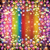 Rainbow background color ball balloon Royalty Free Stock Image
