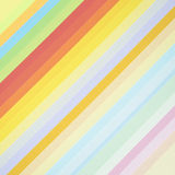 Rainbow background with colored paper Royalty Free Stock Images