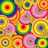 Rainbow Background. Colorful Rainbow Background with circles Stock Photo