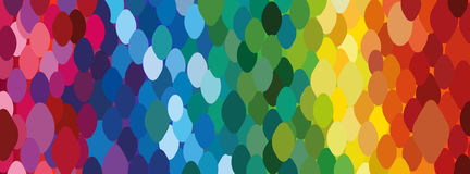 Rainbow background of dots. Trendy wallpaper. Royalty Free Stock Photography