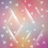 Rainbow background with hearts Stock Images
