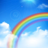 Rainbow Background Illustration Stock Photo