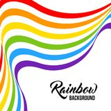 Rainbow background, LGBT colors. Royalty Free Stock Image