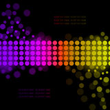 Rainbow background with luminous circles Stock Photos