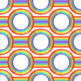 Rainbow background. Retro seamless pattern the 50s and 60s inspired. Seamless abstract Vintage backdrop in sixties style. Vector illustration vector illustration