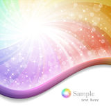 Rainbow background with ribbons Royalty Free Stock Photo
