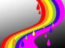 Rainbow Background Shows Colorful Positive And Storm Stock Image