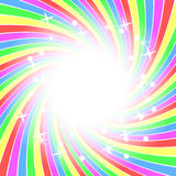 Rainbow background with stars Royalty Free Stock Images