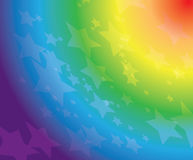 Rainbow background with stars - eps 10 Royalty Free Stock Image