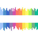 Rainbow, background. Vector illustration Royalty Free Stock Images