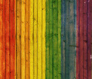 Rainbow background Wood Panel Royalty Free Stock Images