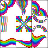 Rainbow backgrounds Royalty Free Stock Images