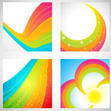 Rainbow backgrounds collection Royalty Free Stock Images