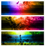 Rainbow Backgrounds Set Stock Photography
