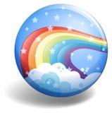 Rainbow badge Stock Image