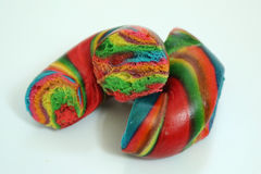 Rainbow bagel Stock Photos