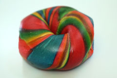 Rainbow bagel Stock Images